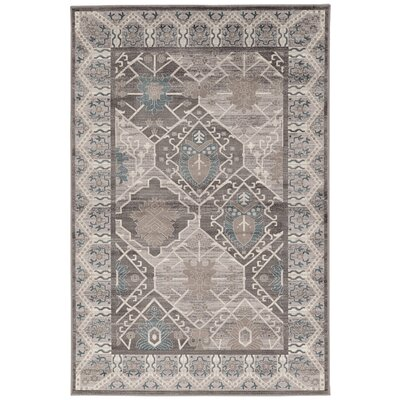 Awrad Beige/Gray Area Rug Rug Size: Rectangle 5 x 76