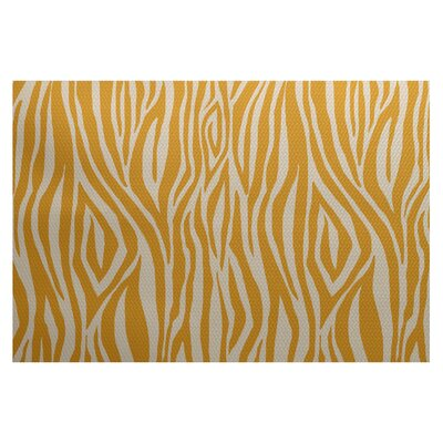 Echo Gold Indoor/Outdoor Area Rug Rug Size: 3 x 5
