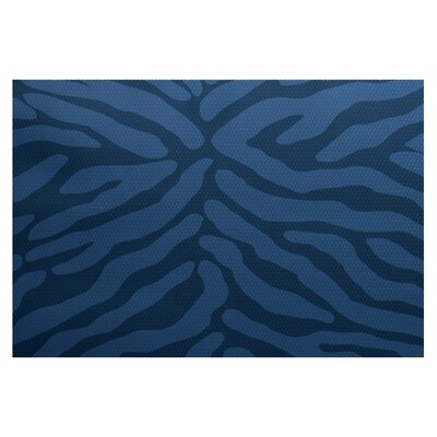 Echo Navy Blue Indoor/Outdoor Area Rug Rug Size: 3 x 5