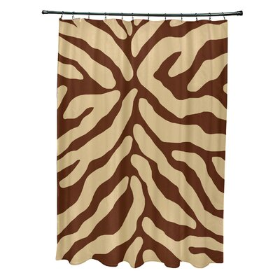 Kam Animal Print Shower Curtain Color: Brown