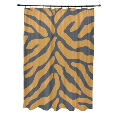 Kam Animal Print Shower Curtain Color: Gray