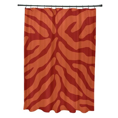 Kam Animal Print Shower Curtain Color: Orange
