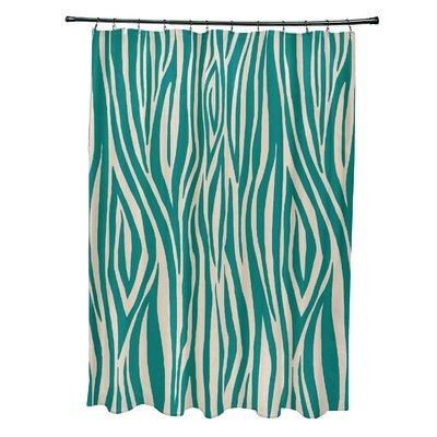 Echo Wood Print Shower Curtain Color: Jade
