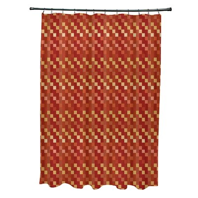 Liam Mad for Plaid Print Shower Curtain Color: Rust