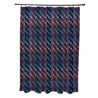 Liam Mad for Plaid Print Shower Curtain Color: Purple
