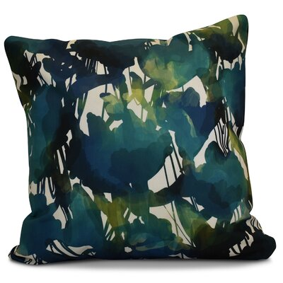 Kam Abstract Floral Outdoor Throw Pillow Size: 16 H x 16 W x 2 D