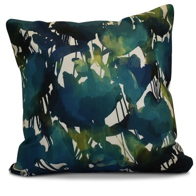 Kam Abstract Floral Throw Pillow Size: 16 H x 16 W x 2 D