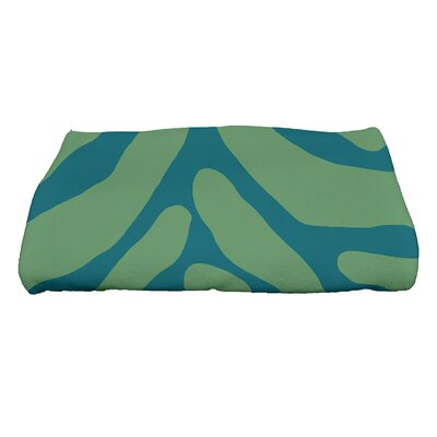 Kam Animal Geometric Print Bath Towel Color: Teal