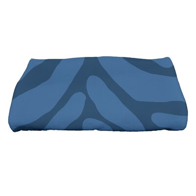 Kam Animal Geometric Print Bath Towel Color: Navy Blue