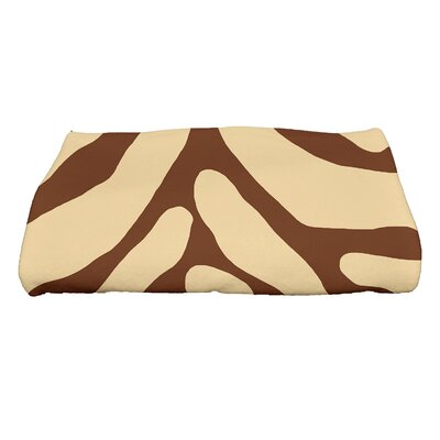 Kam Animal Geometric Print Bath Towel Color: Brown