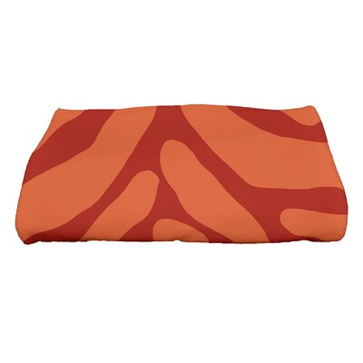 Kam Animal Geometric Print Bath Towel Color: Orange