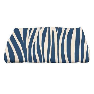 Kam Wood Geometric Print Bath Towel Color: Navy Blue