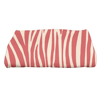 Kam Wood Geometric Print Bath Towel Color: Coral
