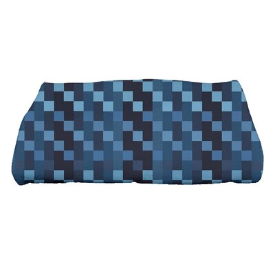 Liam Mad for Plaid Print Bath Towel Color: Blue