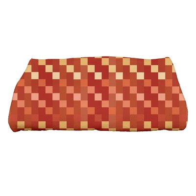 Liam Mad for Plaid Print Bath Towel Color: Rust