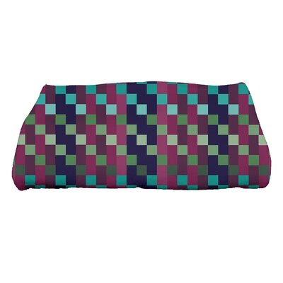 Liam Mad for Plaid Print Bath Towel Color: Purple