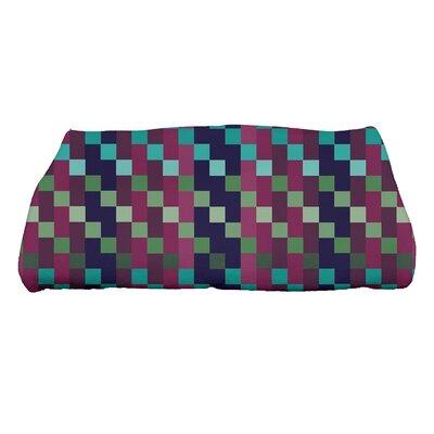Liam Mad for Plaid Print Bath Towel Color: Purple