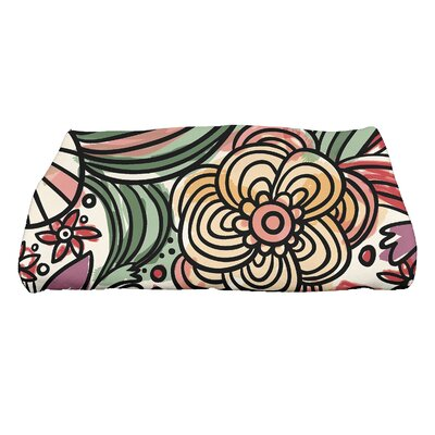 Natahsa Zentangle Floral Print Bath Towel Color: Purple