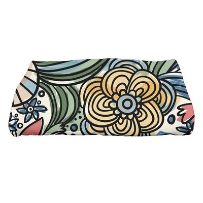 Natahsa Zentangle Floral Print Bath Towel Color: Red