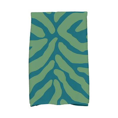 Kam Animal Print Hand Towel Color: Teal