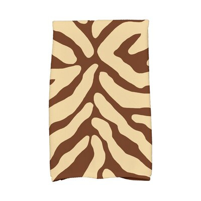 Echo Animal Print Hand Towel Color: Brown