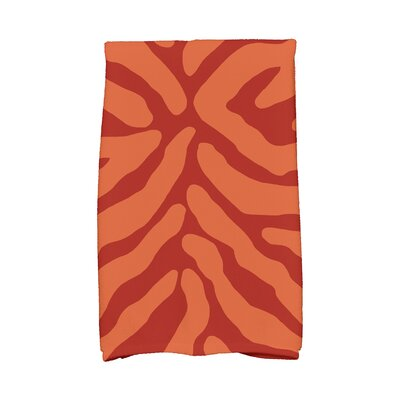 Kam Animal Print Hand Towel Color: Orange