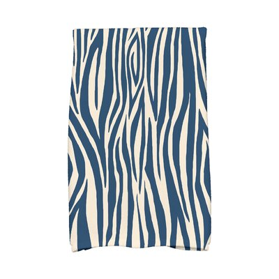 Echo Wood Stripe Hand Towel Color: Navy Blue