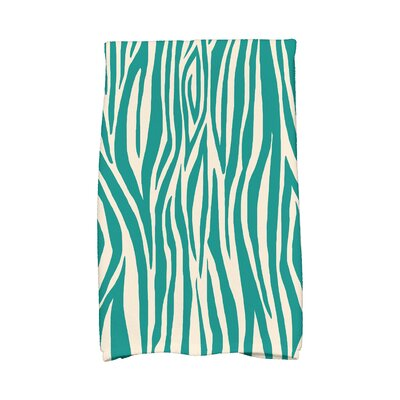 Kam Wood Stripe Hand Towel Color: Jade