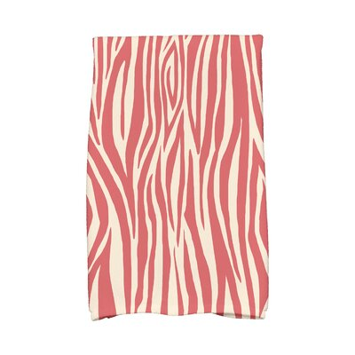 Kam Wood Stripe Hand Towel Color: Coral