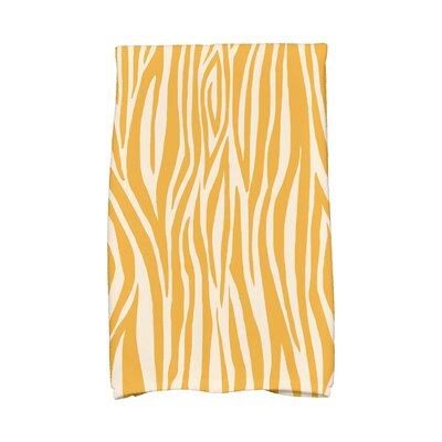 Kam Wood Stripe Hand Towel Color: Gold