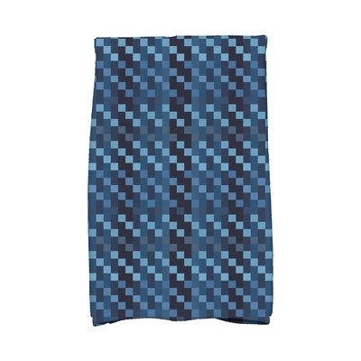 Liam Mad for Plaid Geometric Print Hand Towel Color: Blue