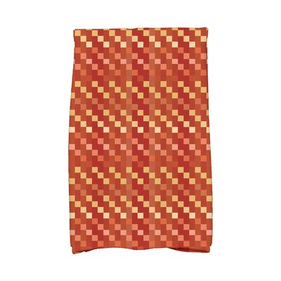 Liam Mad for Plaid Geometric Print Hand Towel Color: Rust