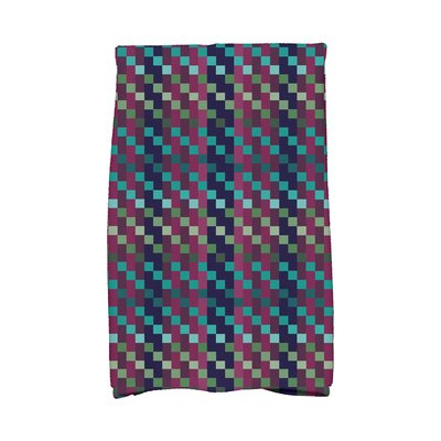 Liam Mad for Plaid Geometric Print Hand Towel Color: Purple