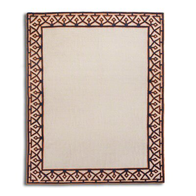 Valentino Hand-Tufted Ivory Area Rug Rug Size: 5 x 8