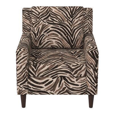 Greer Adobe Armchair Upholstery: Washed Zebra Chocolate OGA