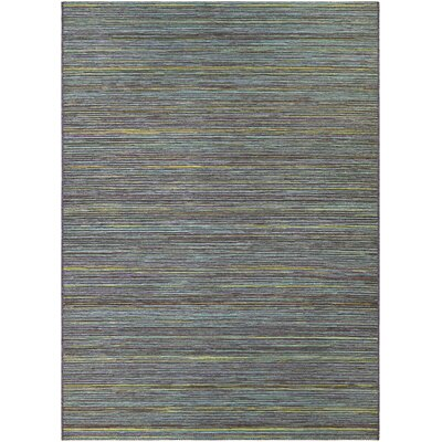 Amasa Teal/Cobalt Indoor/Outdoor Area Rug Rug Size: Rectangle 311 x 55