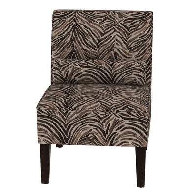 Thurston Slipper Chair Upholstery: Washed Zebra Chocolate OGA