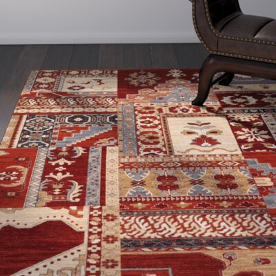 Cleveland Burgundy Area Rug Rug Size: Rectangle 46 x 66