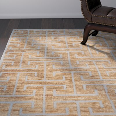 Elise Hand-Woven Grey/Beige Area Rug Rug Size: Square 16