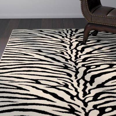 Pembroke Pines Beige Animal Oval Area Rug Rug Size: Rectangle 93 x 125