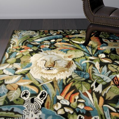 Heredia Hand-Knotted Blue Area Rug