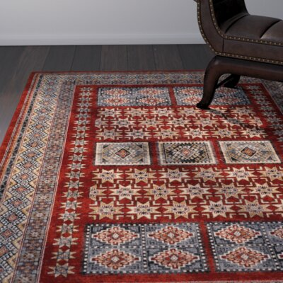 Alliance Burgundy Area Rug Rug Size: 66 x 910