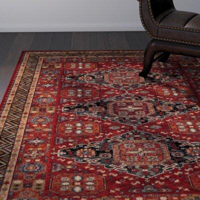 Faska Kashkai Burgundy Area Rug Rug Size: 66 x 910