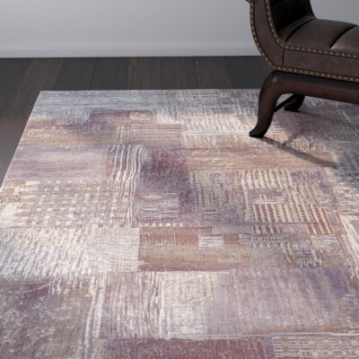 Gene Brown/Cream Area Rug Rug Size: Rectangle 710 x 112