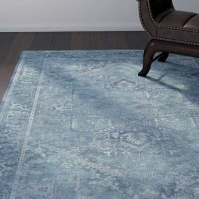 Emily Blue Area Rug Rug Size: Rectangle 4 x 57