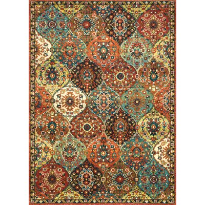 Winters Rust Area Rug Rug Size: Rectangle 5 x 75