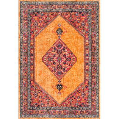 Cyrene Orange Area Rug Rug Size: 4 x 6