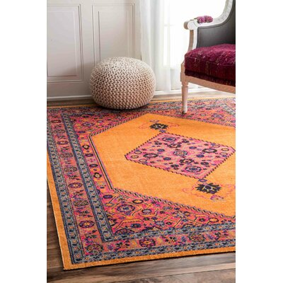 Cyrene Orange Area Rug Rug Size: Rectangle 8 x 10