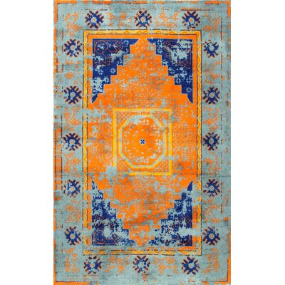 Watson Hand-Tufted Blue Area Rug Rug Size: Rectangle 76 x 96