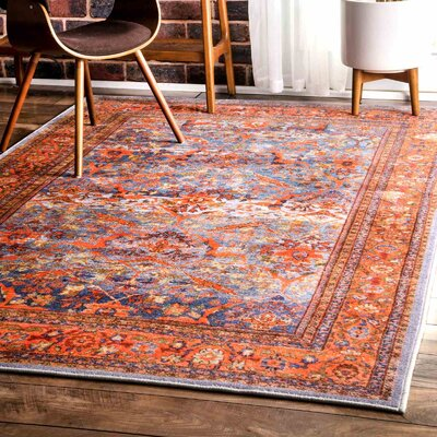 Willis Gardenia Orange Area Rug Rug Size: Rectangle 710 x 910